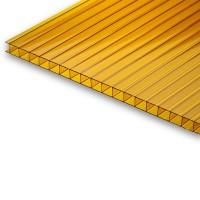 Сотовый поликарбонат 6х2,1 м, 4 мм, оранжевый