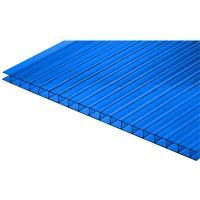 Сотовый поликарбонат 6х2,1 м, 4 мм, синий