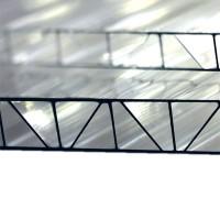 Сотовый поликарбонат 6х2,1 м, 4 мм, прозрачный, усиленный