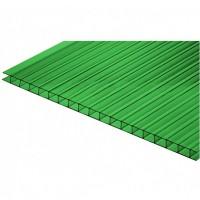 Сотовый поликарбонат 6х2,1 м, 4 мм, зеленый