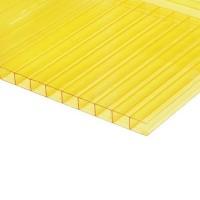 Сотовый поликарбонат 6х2,1 м, 4 мм, желтый